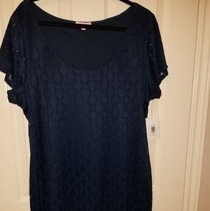 Isaac Mizrahi midnight blue tshirt dress